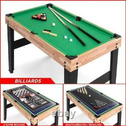 10 In 1 Combo Game Table Set Pool Foosball Ping Pong Hockey Bowling Chess More