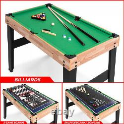 10-in-1 Combo Game Table Set with Pool Foosball Ping Pong Hockey Bowling Chess FUN