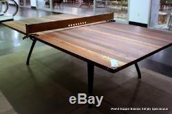 108 Industrial ping pong Sport Table tennis Platform oak walnut iron leather net