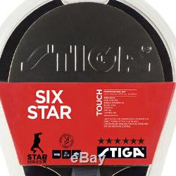 2pc Stiga Touch 6 Star Table Tennis Bat Ping Pong Game Racket Blk/Rd withWRB ACS