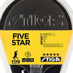2x Stiga Infinity 5 Star Table Tennis Bat Ping Pong Game Racket Blk/Rd withWRB ACS