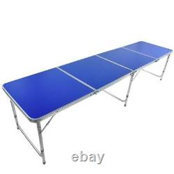 3' Folding Beer Pong Table Desk Portable Aluminum Outdoor Indoor Game Party