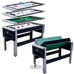 4-in-1 Combo Arcade Game Table Tennis Hover Air Hockey Pool Bowling Ping Pong