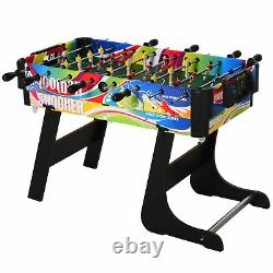 4-in-1 Foldable Game Table Hockey Football Table Tennis & Pool Home Gaming
