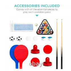 4-in-1 Ping Pong / Table Tennis, Hockey, Billiards, Foosball Table Game Combo