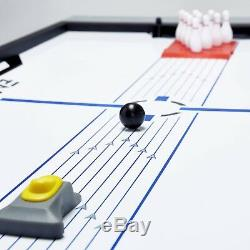4-in-1 Swivel Combo Games Table Tennis Hover Air Hockey Pool Bowling Entertain