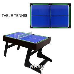 4in1 Arcade Table Air Hockey Foosball Ping Pong Billiards Fun Game Room 4ft