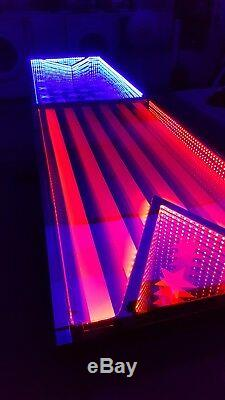 4th of July USA America Infinity LED BEER PONG TABLE 8ftx2ft /w MUSIC SENSORS