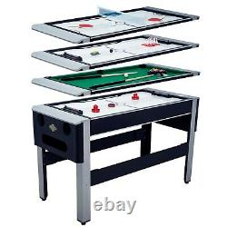 54 4in1 Pool Bowling Hockey Table Tennis Billiard Convertible Arcade Game Table