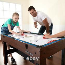 54 Inch 4-in-1 Combo Table Pool Foosball Table Tennis Billiards Air Hockey NEW