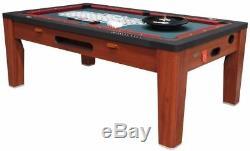 6 in 1 COMBO GAME TABLE POOLAIR HOCKEYPING PONGROULETTEPOKERDINING CHERRY