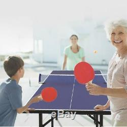 6'x3' Ping Pong Table Tennis Folding Game Set Indoor Outdoor Sport Play Games