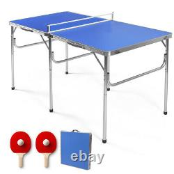 60 Portable Table Tennis Ping Pong Folding Table withAccessories Indoor Game New