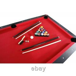 7' POOL TABLE TENNIS GAME PING PONG, DINING TABLE with BENCHES, MULTI FUNCTION