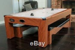 7Ft Air Hockey Table Tennis Combo Set-Hathaway
