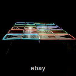8' Beer Pong Portable Folding Game Table Aluminum LED Lights Cup Holder SINK IT