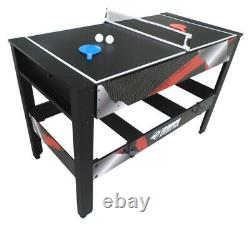 AIR HOCKEY TABLE TENNIS BILLIARD GAME TABLE 48 4-in-1 Accessories Included