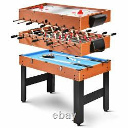 All New 3-in-1 Combo Game Table Billiards Foosball Soccer Pool Slide Air Hockey