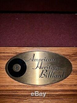 American Heritage Billiards Claw Foot Pool Table with ping pong tabletop
