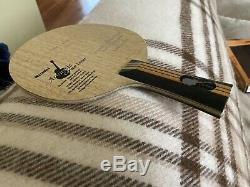 Authentic Nittaku Acoustic Carbon Inner FL Table Tennis PingPong Blade Near-Mint