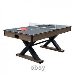 Beautiful Rustic 6' Air Hockey Table Table Tennis Top Mancave Room Fun Indoor US