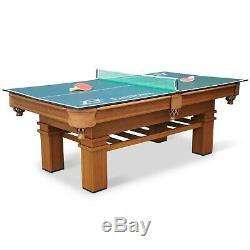 Billiard Pool Table Ping Pong Table Tennis Top Combo Set Indoor Game Room 87