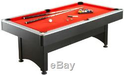 Billiard Pool and Table Tennis Multi Game Set 7 ft. With Cues Paddles And Balls