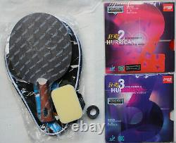 Custom-made Stiga Offensive Classic WRB Table Tennis Bat, Hurricane2 Hurricane3