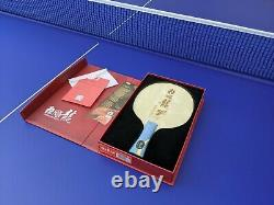 DHS Hurricane Long 5X Table Tennis Blade Ping Pong Racket 5W + 2AC Professional