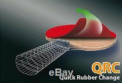 Donic-Schildkrt Table Tennis Bat Carbotec 7000, concave handle, Blister, black