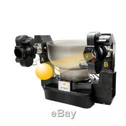 Dual Head 4 Wheels Table Tennis Robot Ping Pong Auto Training Drilling Machine