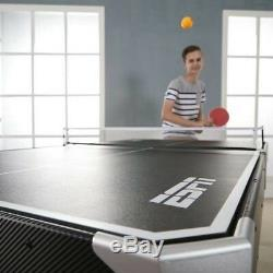 ESPN 72 Inch Air Powered Hockey Table with Table Tennis Top In-Rail Scorer