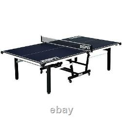 ESPN Official Size Ping Pong Tennis Table, Indoor, Foldable, Cover, Blue/White
