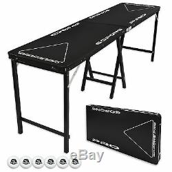 Flip Cup & Beer Pong Party Table! 8 Foot PROFESSIONAL GRADE! PRO SERIES