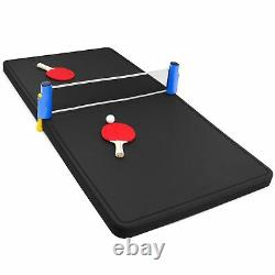 Floating Pool Ping Pong Table Tennis Party Durable Black Foam 5 Feet USA Made