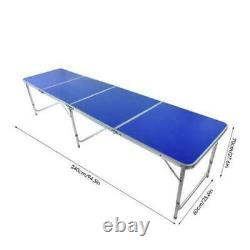 Foldable Aluminum Folding Beer Pong Table Portable Outdoor Indoor Game Party US