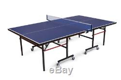 Foldable Indoor/Outdoor Table Tennis Ping Pong Game for Garage with Clamp Net