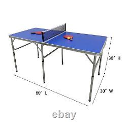 Foldable Table Tennis Table Outdoor/Indoor Ping Pong Table with Rackets Net