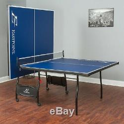 Folding Tennis Table Ping Pong Indoor Sport Kids Fun Tourmanet Size Game Room