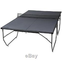 Franklin Sports Easy Assembly Table Tennis Table Black Portable Activity Play