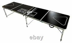 Games On Tap 8 Foot Beer Pong Table, Foldable, Adjustable and Portable with6 balls