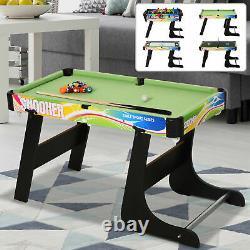 HOMCOM 4 in 1 Folding Play Hockey, Football, Table Tennis, Pool for Kids Teens