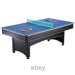 Hathaway Maverick Pool Table with Table Tennis Top, 7-ft, Red