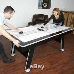 Hockey Table Game Home 80 Air Powered Hover Family with Bonus Table Tennis Top