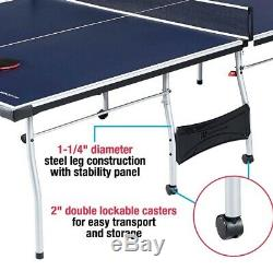 Indoor Outdoor Tennis Table Ping Pong Sport 4 Piece Official Size Fold Up Game