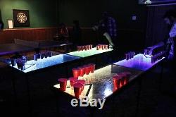 Infinity LED BEER PONG TABLE 8ftx2ft /w MUSIC SENSORS DELUXE PARTY TABLE