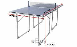 JOOLA Midsize Compact Table Tennis Table Ping Pong Small Apartment NEW