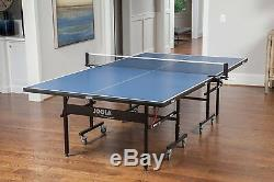 JOOLA Official Size Table Tennis Table Net Set Features Game Room Pong Foldable
