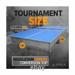 JOOLA Tetra 4 Piece Ping Pong Table Top for Pool Table Includes Ping Pong