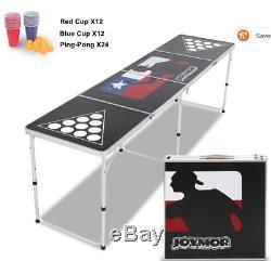 Joymor Beer Pong Table 8' Aluminum Folding Indoor Outdoor Tailgate Drinking Game